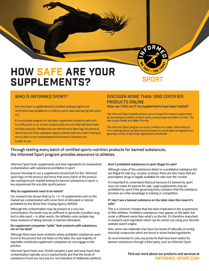 Informed Sport - How Safe Are Your Supplements
